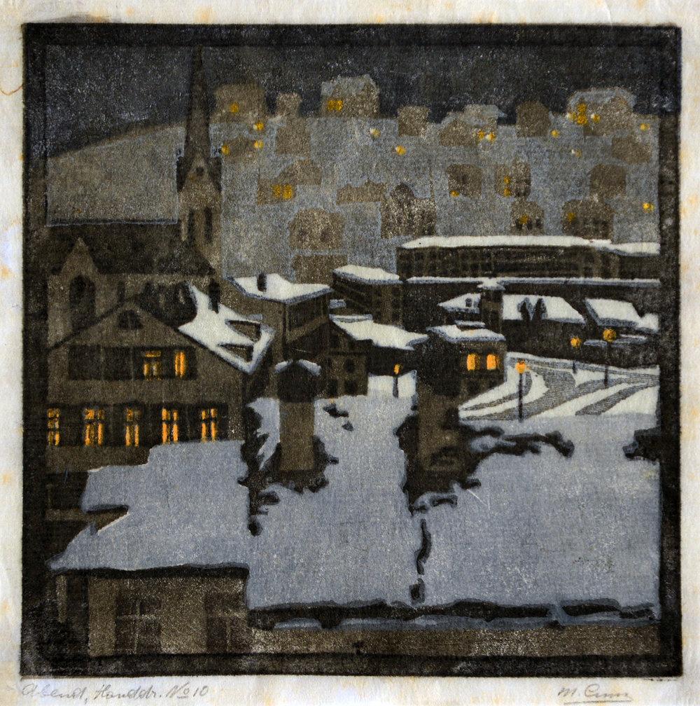 Abend, 1902. Farbholzschnitt