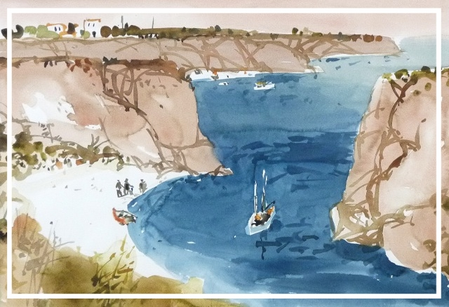 Menorca. Aquarell auf Papier. LM 38 x 54,5