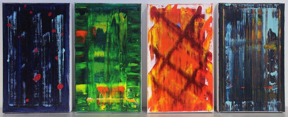 Hauser Guido, Küssnacht - Acryl auf Leinwand je 25 x 40 cm