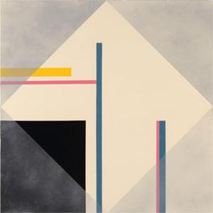 A. Uchtenhagen - shades of grey (Acryl auf Holz, 120 x 120 cm)
