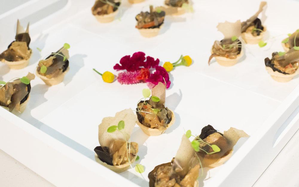 Mushroom tartalette, mushroom paper