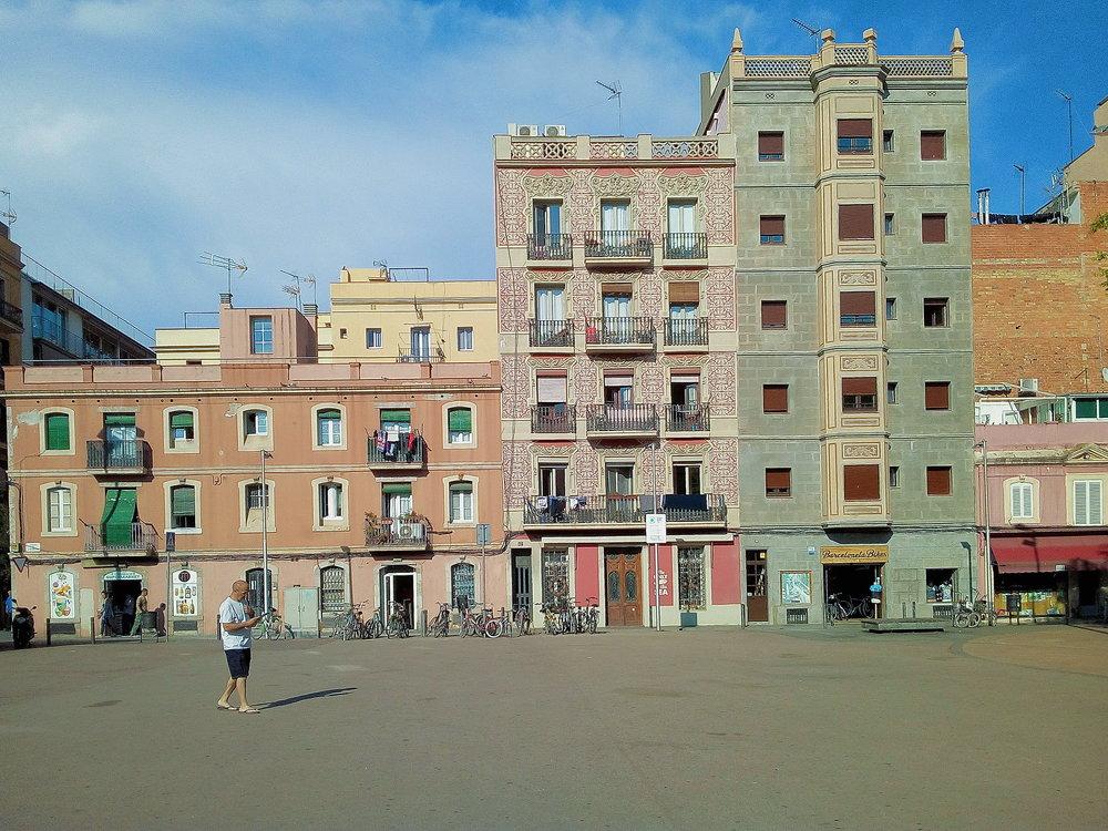 La plaza en Barceloneta. I love this one.