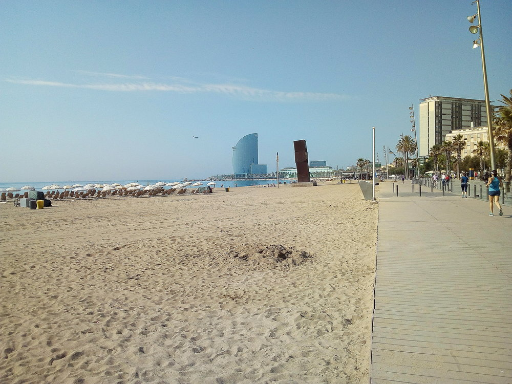 Barceloneta, the beach where all the tourists hang out