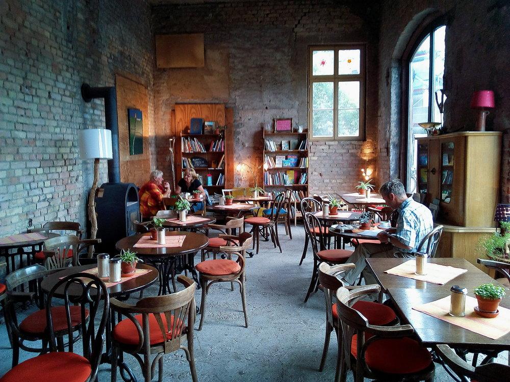 The Hofgut Café inside