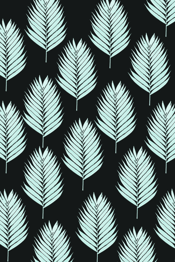 downloadable palm leaf wallpaper black background #pattern #design #graphicdesign #phonebackground #phylleli