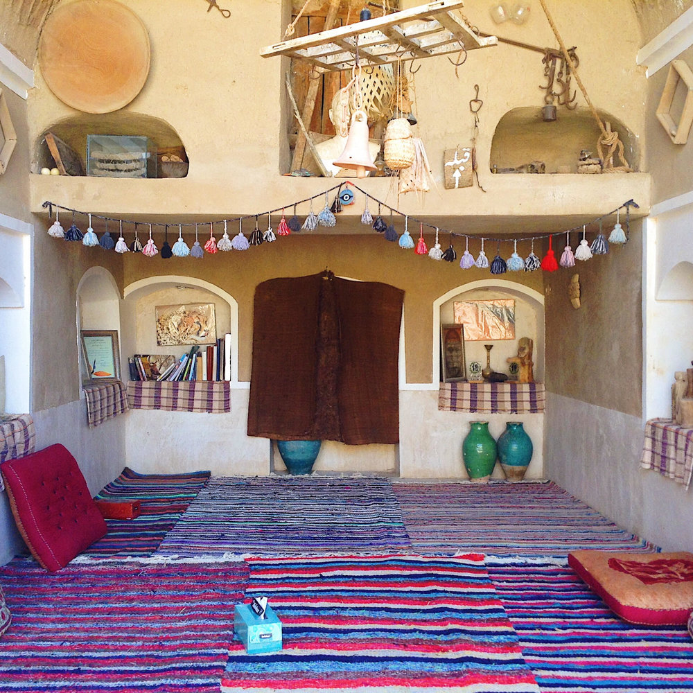 Here breakfast, lunch and dinner was served. It was pretty much like an outdoor living room. Barandaz Lodge, Mesr, Iran