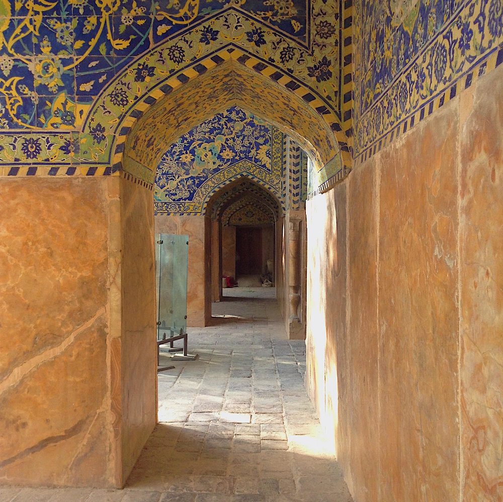 Inside a mosque in Esfahan, I don't remember anymore which mosque though.