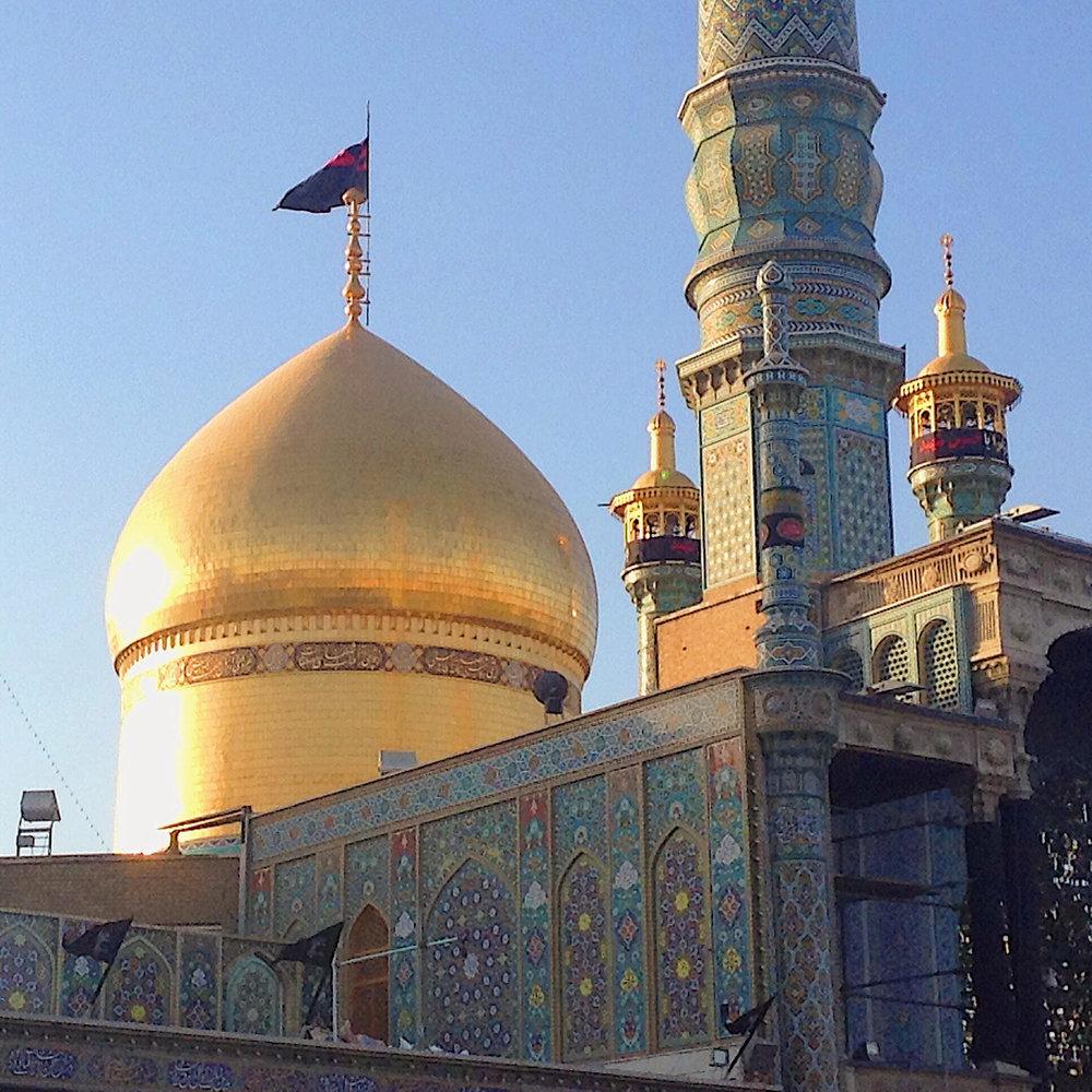 A famous mosque near Tehran