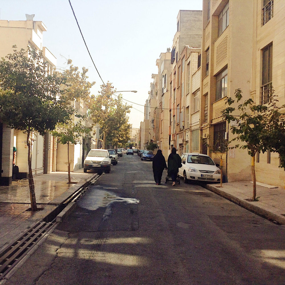 Tehran, the street where our hostel was.
