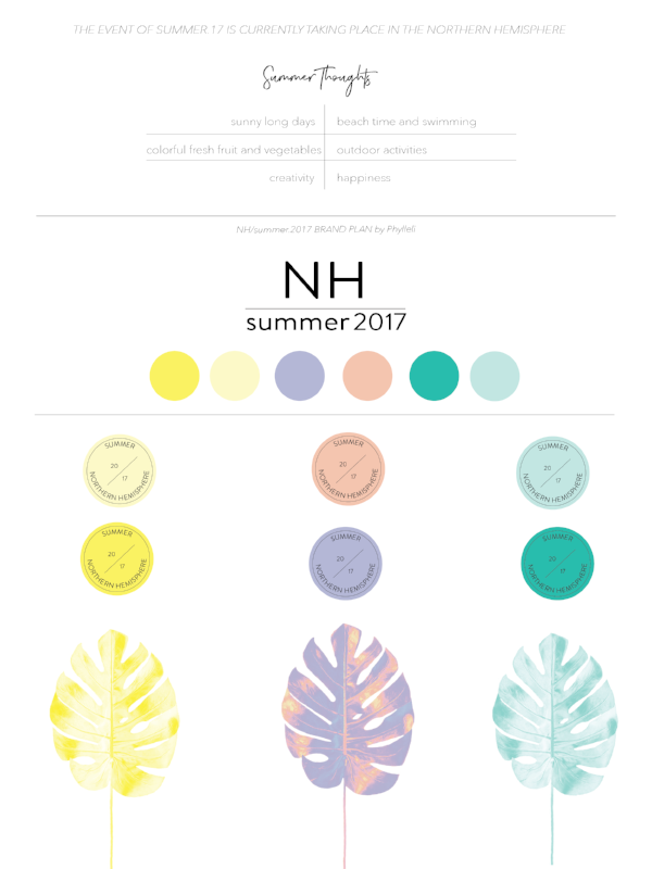 Summer 2017 Brand Plan by Phylleli #design #brandplan #branding #graphicdesign #designer #personalproject #onlinebranding #logodesign #colorpalette #summer2017 #creativity #typography #minimalism