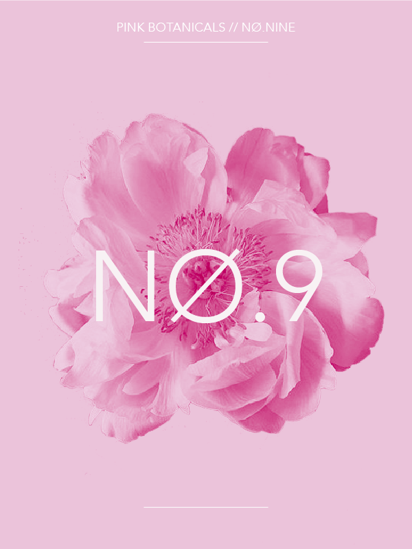 Pink Botanicals No.9 // The Botanical Series #design #graphicdesign #typography #editorialdesign #artdirection #designblog