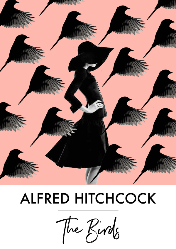 Film Poster by Phylleli / Hitchcock 'The Birds' #design #graphicdesign #thebirds #alfredhitchcock #typography #patterns #symmetry #layout #poster #designblog