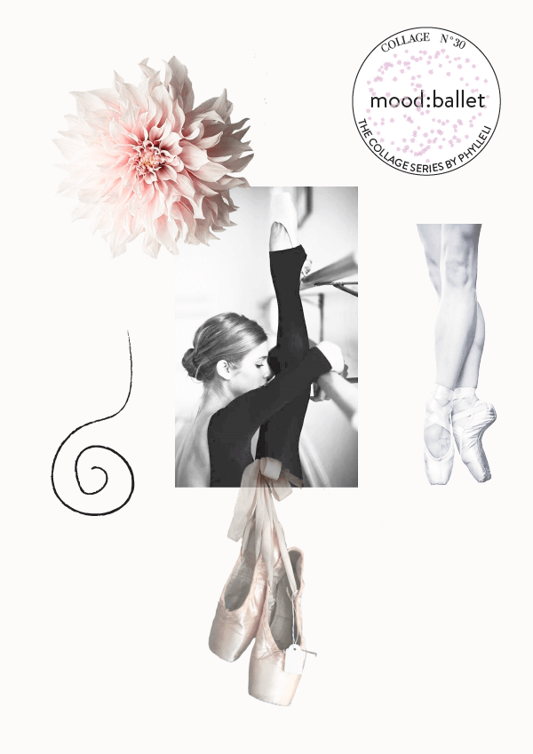 Collage No. 30 // mood:ballet by phylleli #design #graphicdesign #logo #branding #moodboard #collage #thecollageseries #femininedesign #ballet #balletcollage #pointeshoes #editorialdesign #fashionmagazine #artdirection #phylleli #designblog