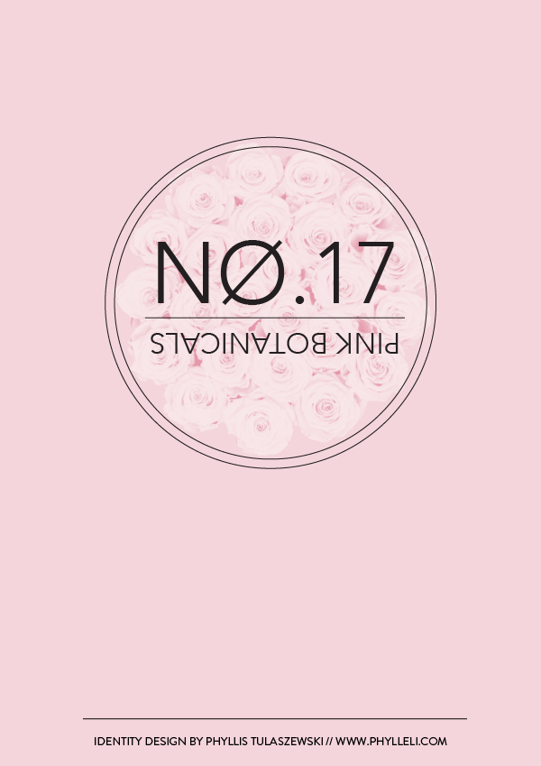 Pink Botanicals // No. 17 by Phylleli #design #designblog #branding #logodesign #branddesigner #identitydesign #minimalism #graphicdesign #freelancer #typography #femininedesign #phylleli