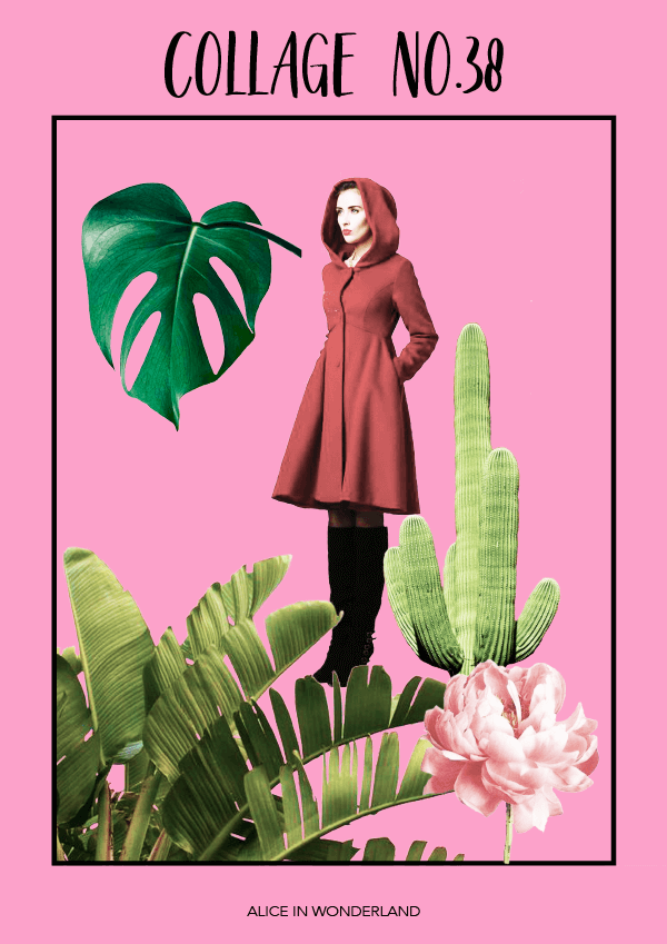 Collage No. 38 // Alice in Wonderland by Phylleli #design #graphicdesign #creativity #collage #thecollageseries #editorialdesign #layout #poster #freelancer #designblog