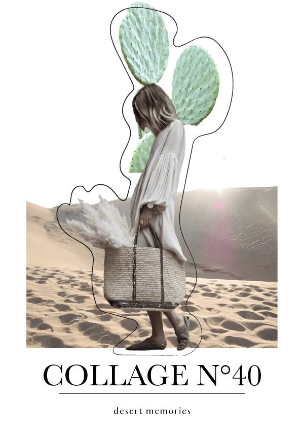 Collage No. 40 // Phylleli #editorialdesign #magazinestyle #artdirection #typography #desert #cactus #collage #thecollageseries #freelancer #designblog #minimalism #phylleli