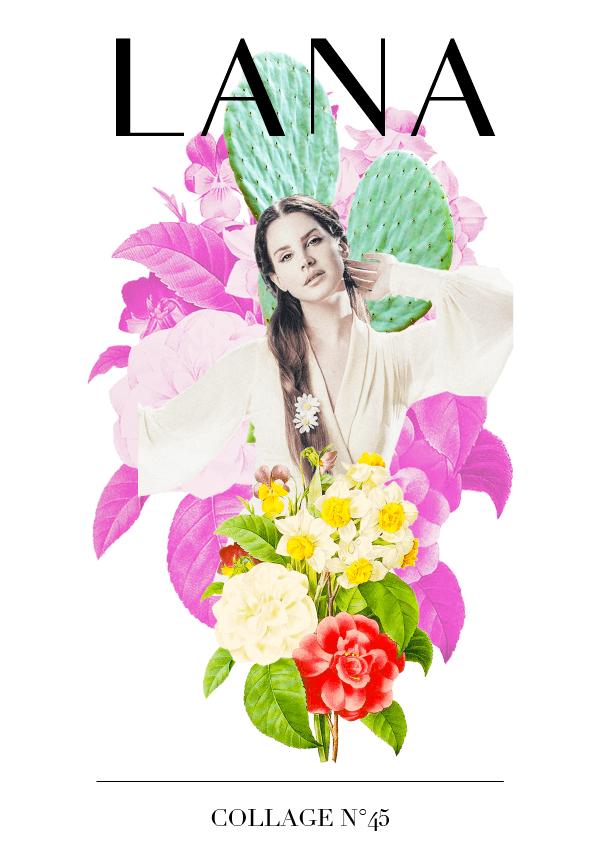 Collage No. 45 // Lana del Rey #collage #popart #design #graphicdesign #lanadelrey #typography #designblog #graphicdesigner #collage #thecollageseries #editorialdesign #artdirection