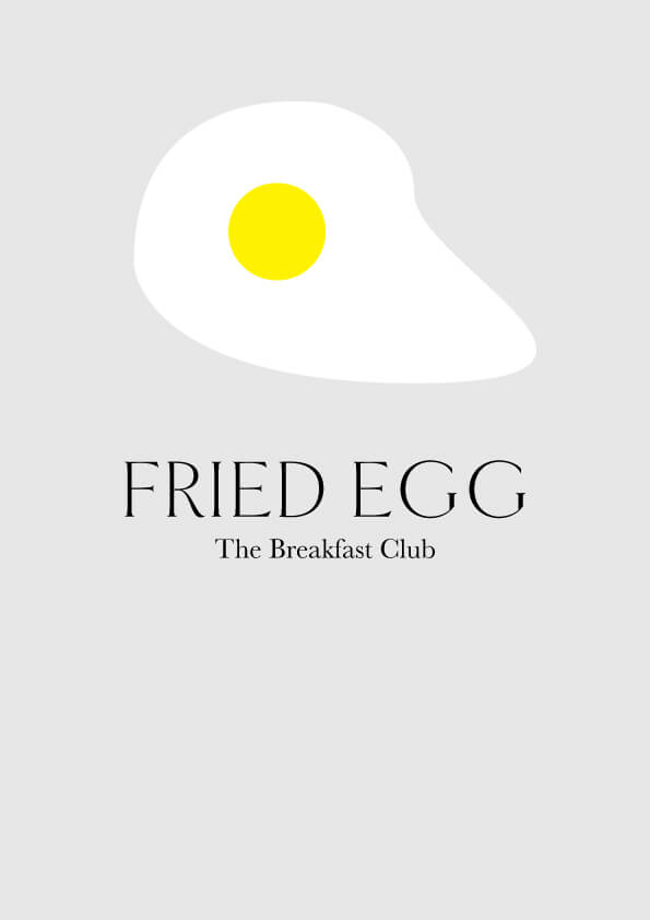 The Breakfast Club // by Phylleli #design #logo #logodesign #illustration #minimalism #typography #designblog