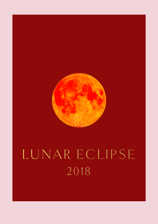 Lunar Eclipse by Phylleli #design #graphicdesign #typography #designblog #moon #redmoon