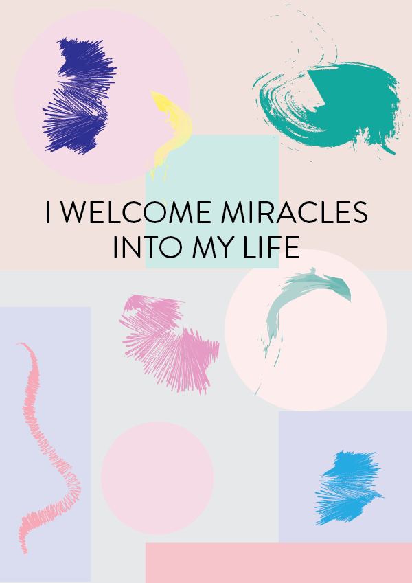 I welcome miracles into my life affirmation (phylleli) #design #graphicdesign #affirmation #selfcare #selflove