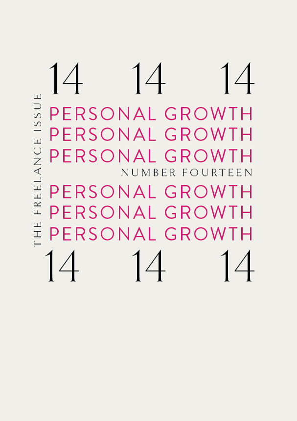 TFI NO.14 // Personal Growth (Phylleli) #typography #design #graphicdesign #selflove #selfworth #selfcare #designblog #wellnessblog #mentalhealth #personaldevelopment #identitydesign #branding #visualidentity