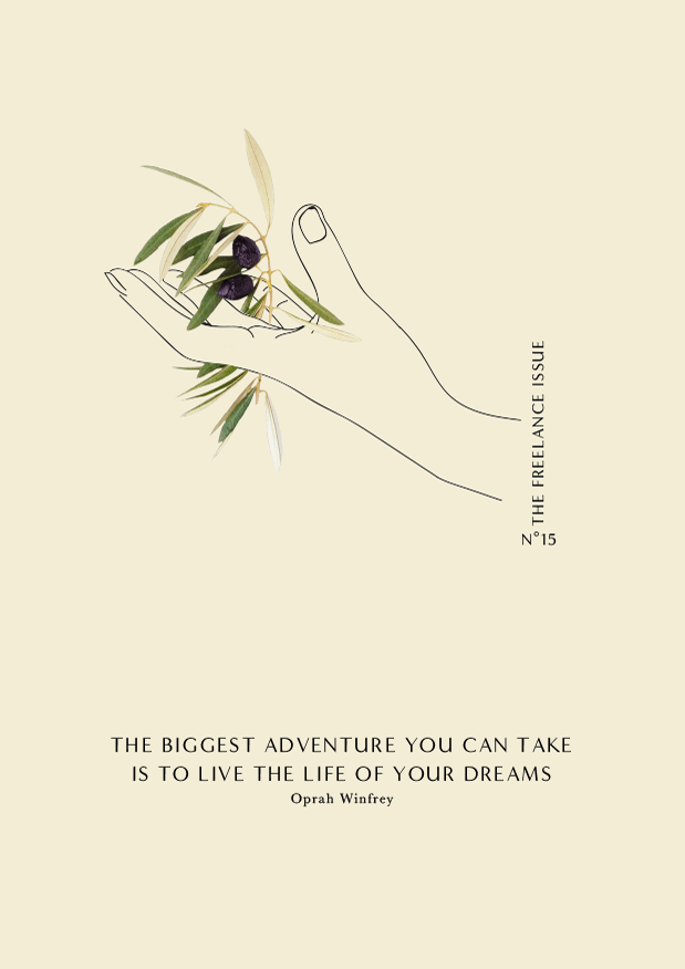 Phylleli // The biggest adventure you can take, is to live the life of your dreams - Oprah Winfrey #graphicdesign #illustration #botanicals #goalsetting #designblog #typography