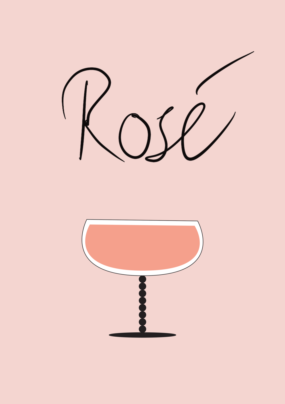 Rosé Wine Illustration // Phylleli Design Studio and Blog