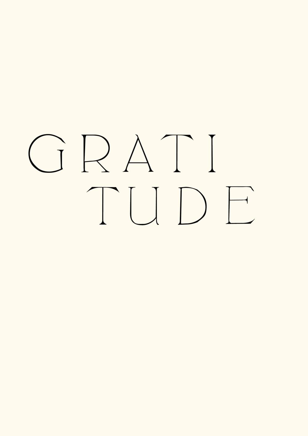 gratitude typography branding // phylleli design studio and blog