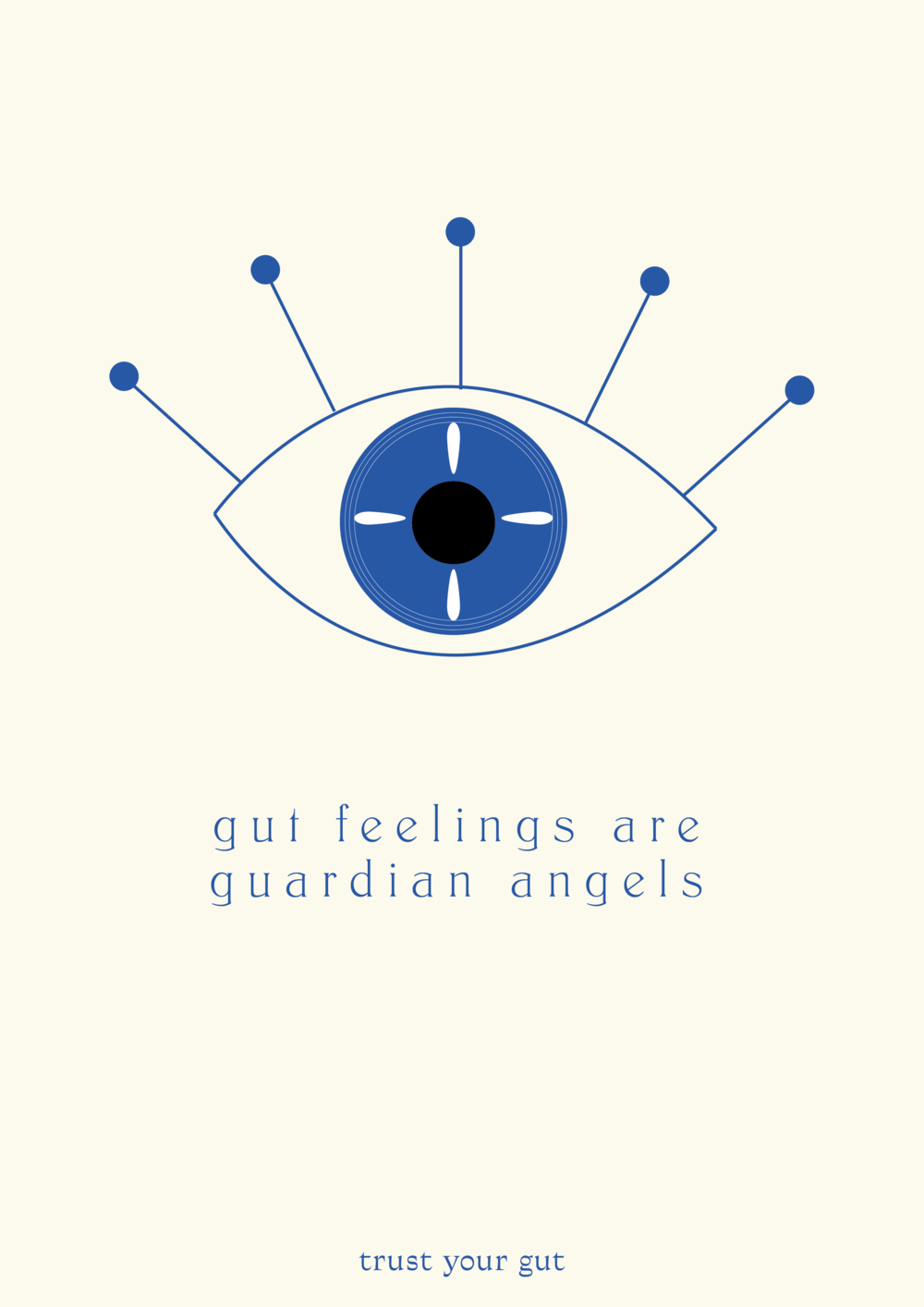 gut feelings are guardian angels // affirmations (phylleli design studio and blog)