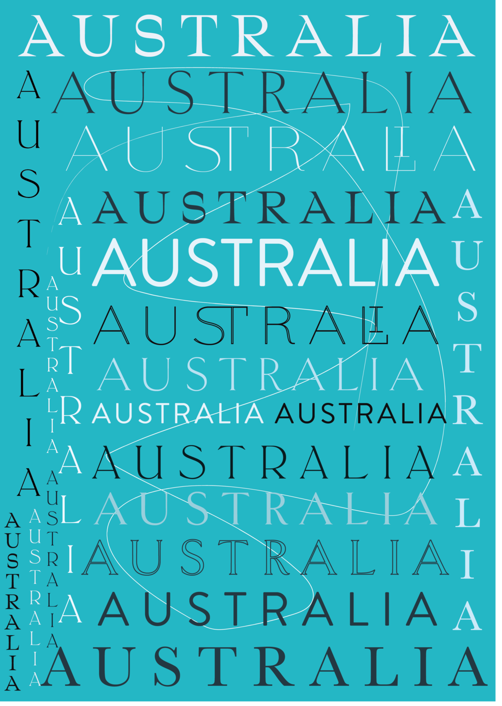 Australia Typography Poster // Phylleli Design Studio and Blog