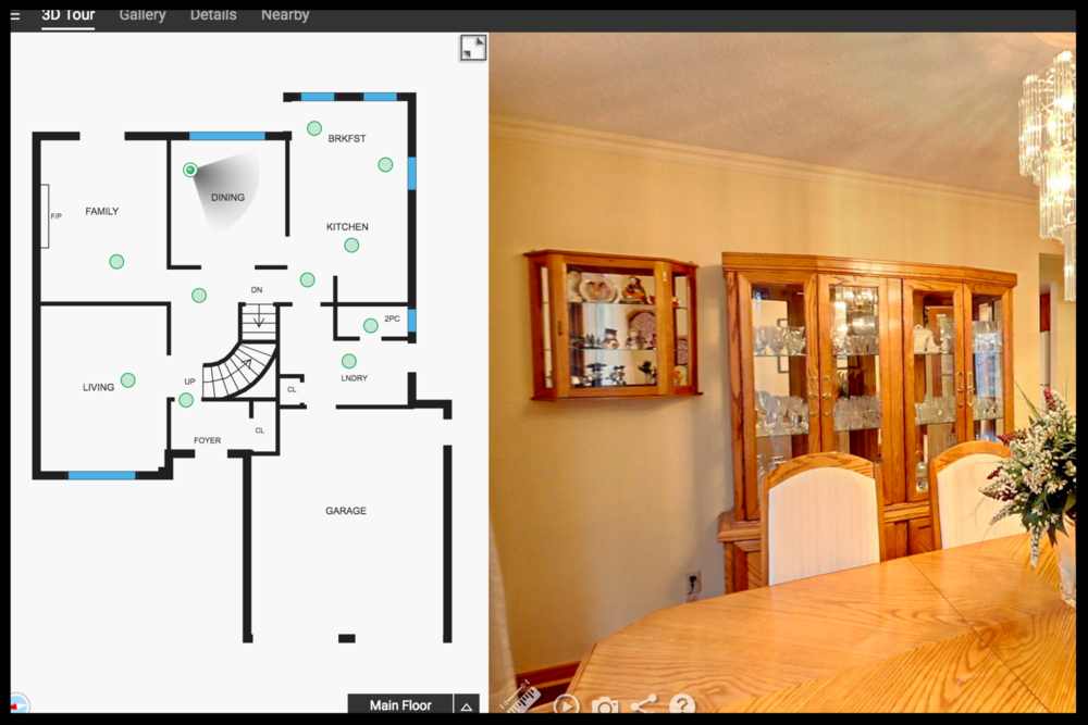 Interactive Virtual Tour - Viewers that have already seen the virtual tour are more likely prospects...
