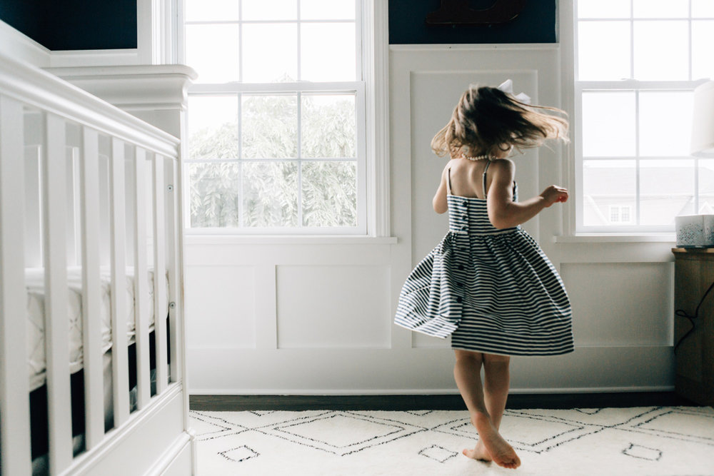 twirling in the nursery - laura barr photography