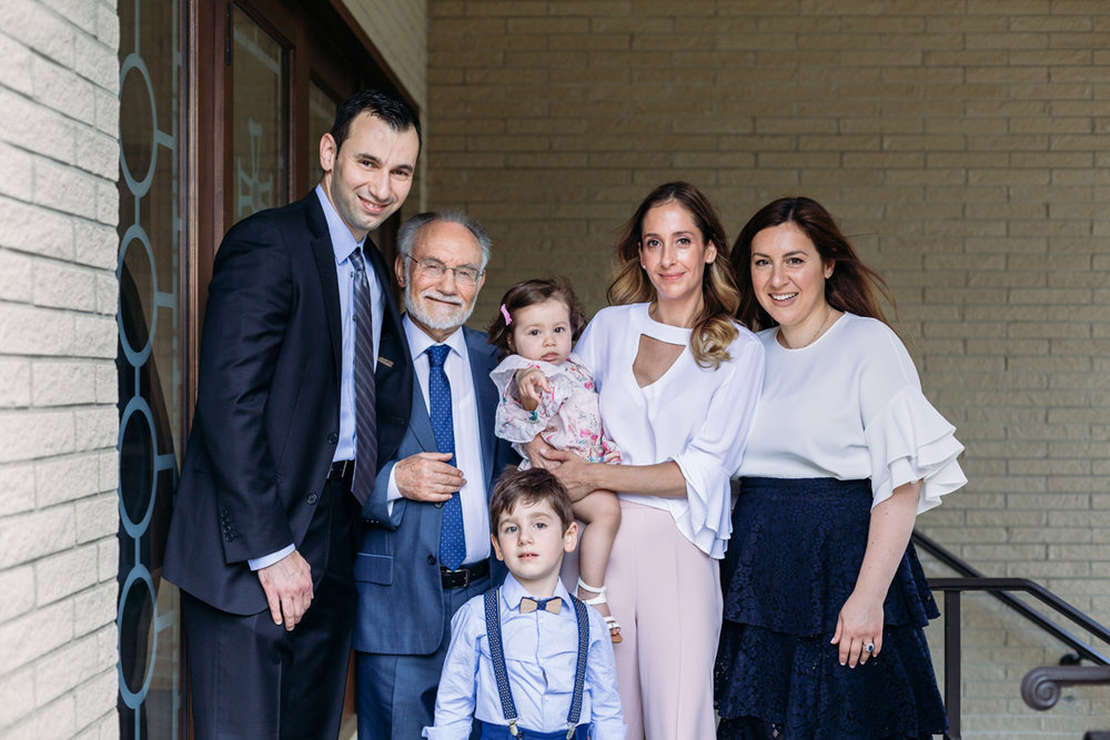 family photo before baptism