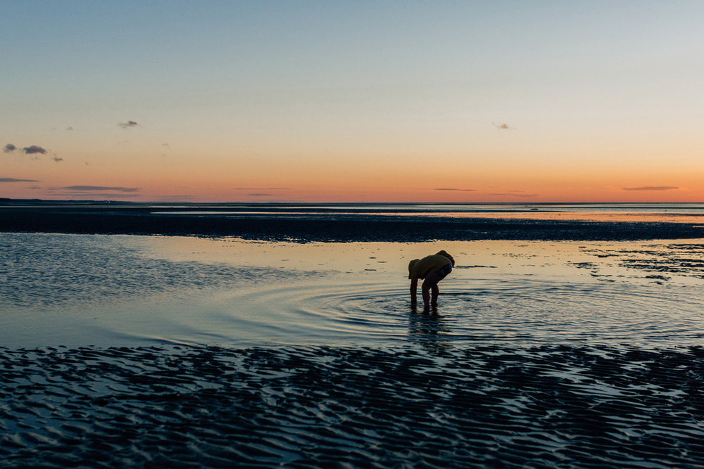 blue hour at low tide skaket beach by laura barr photography