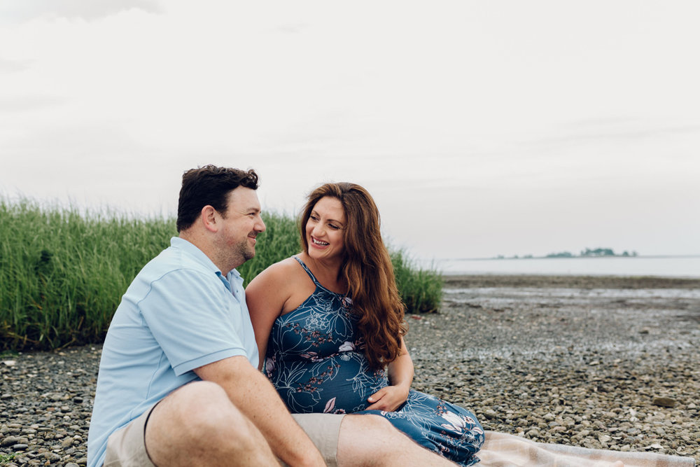 calf pasture beach maternity session