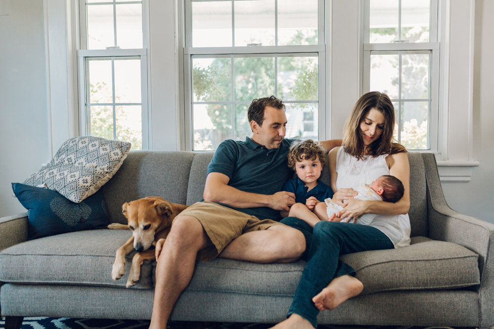 newborn lifestyle session on couch