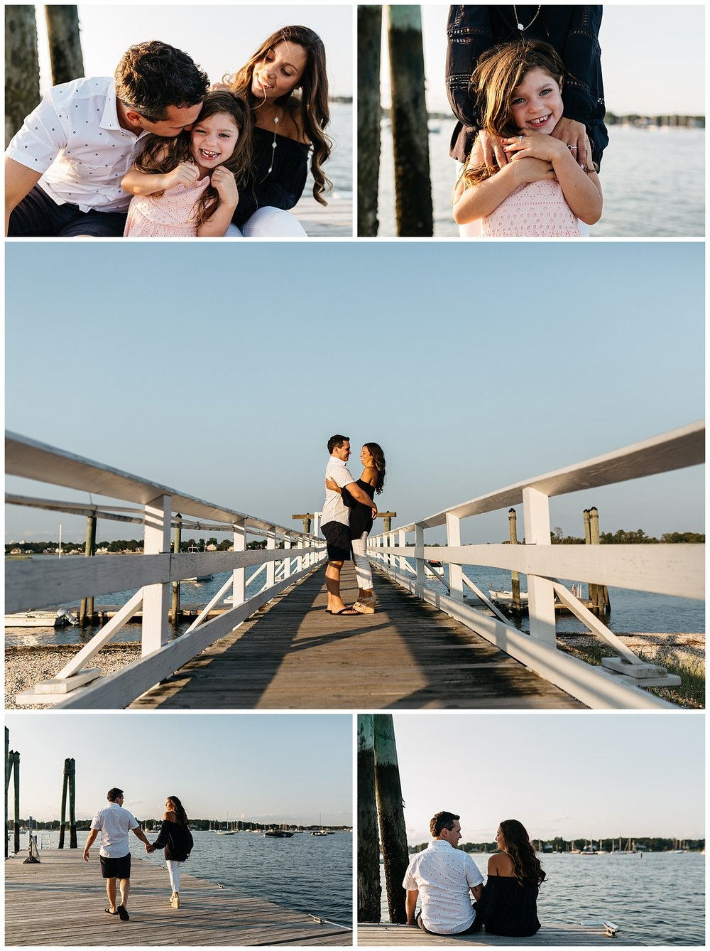 fun family engagement session in greenwich by laura barr photography
