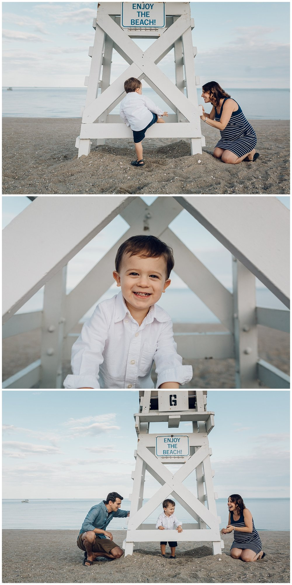 fun under the lifeguard stand by laura barr photography