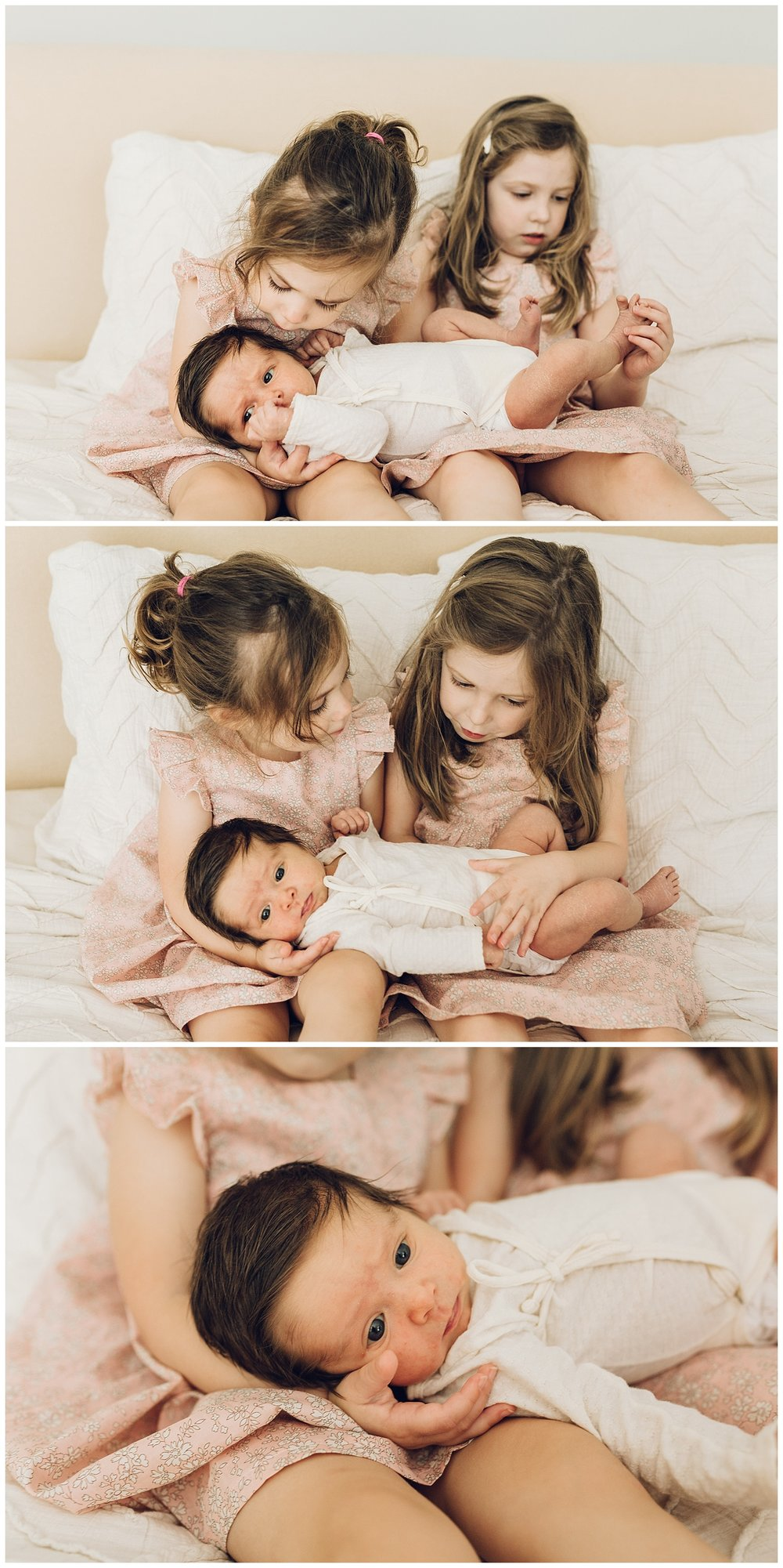 three sisters in pink by laura barr photography