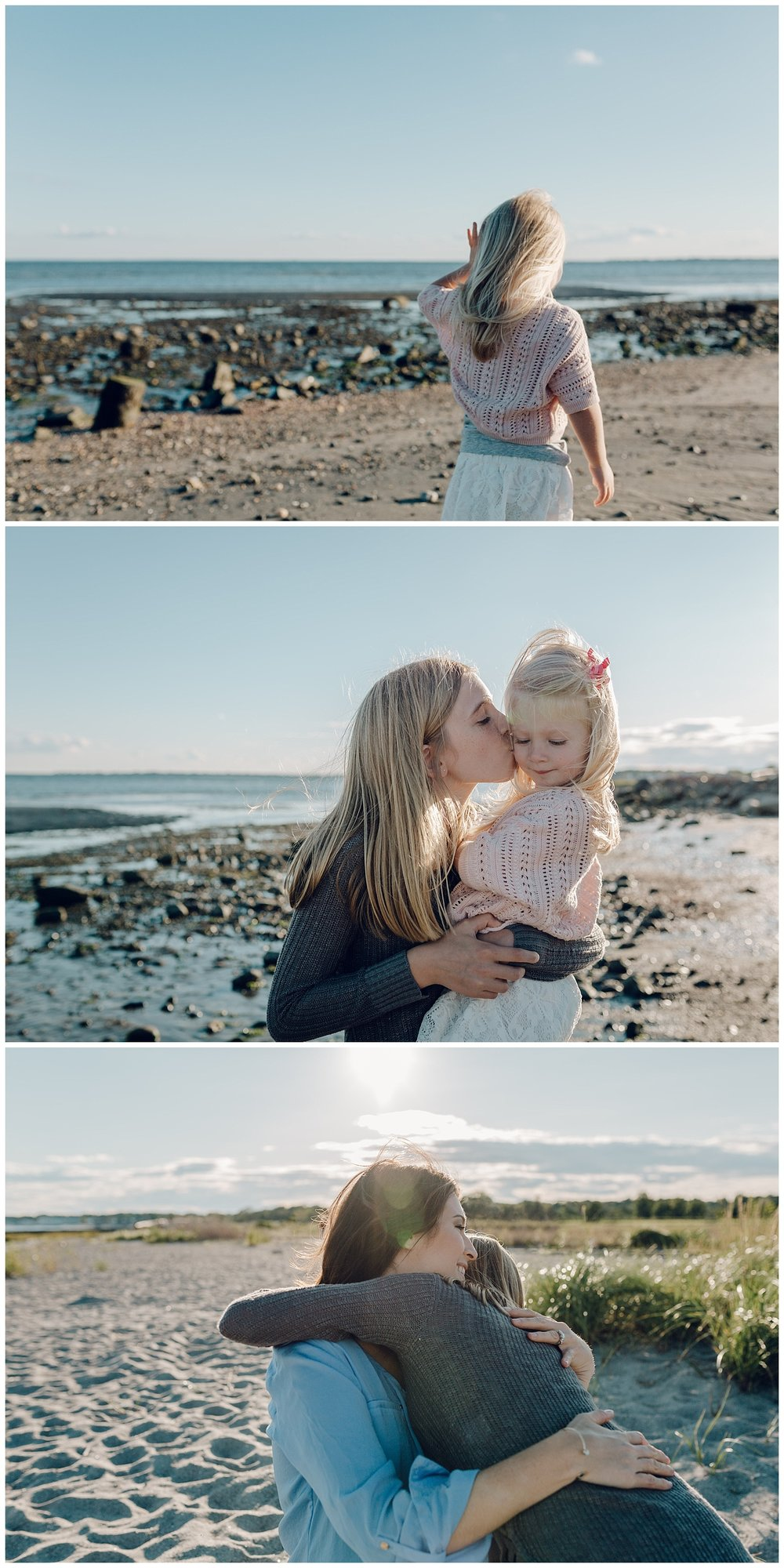 sisters at the beach by laura barr photography