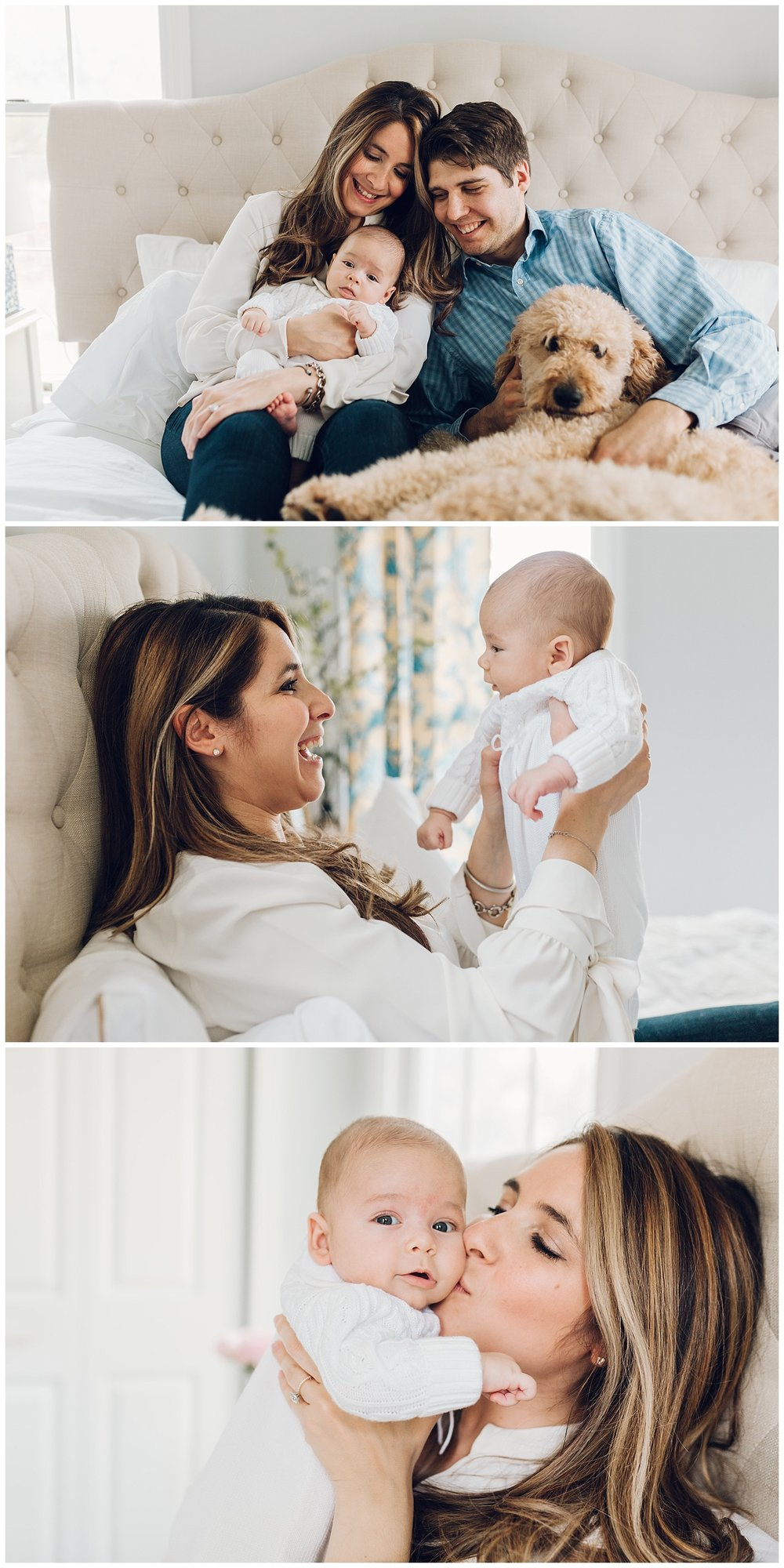 at home newborn session by laura barr photography