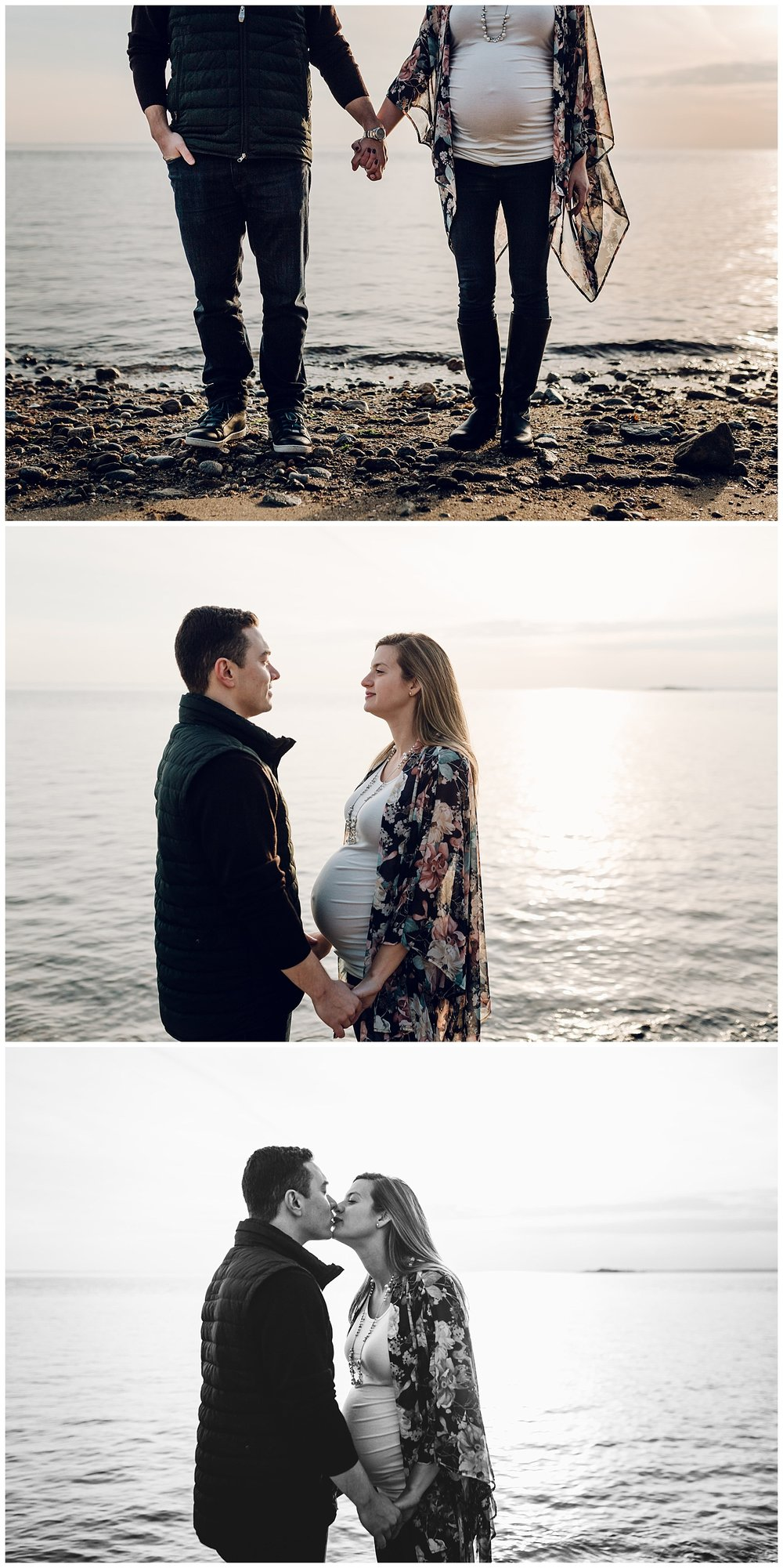beach winter maternity photos in greenwich ct