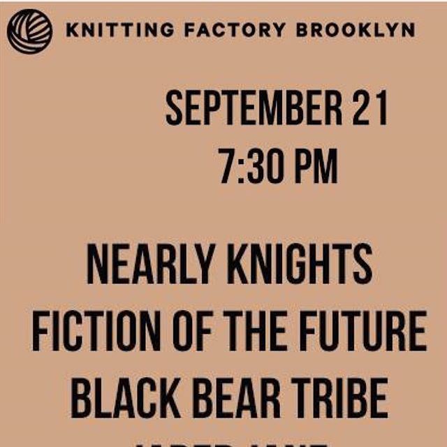 Great #debutshow #knittingfactory #emergingartists #livemusicinnyc Thank you for your support! #nearlknights new EP coming soon!