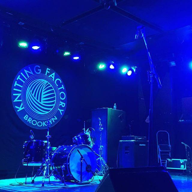 #debutshow #nearlyknights #emergingartists #knittingfactory #thestageisset