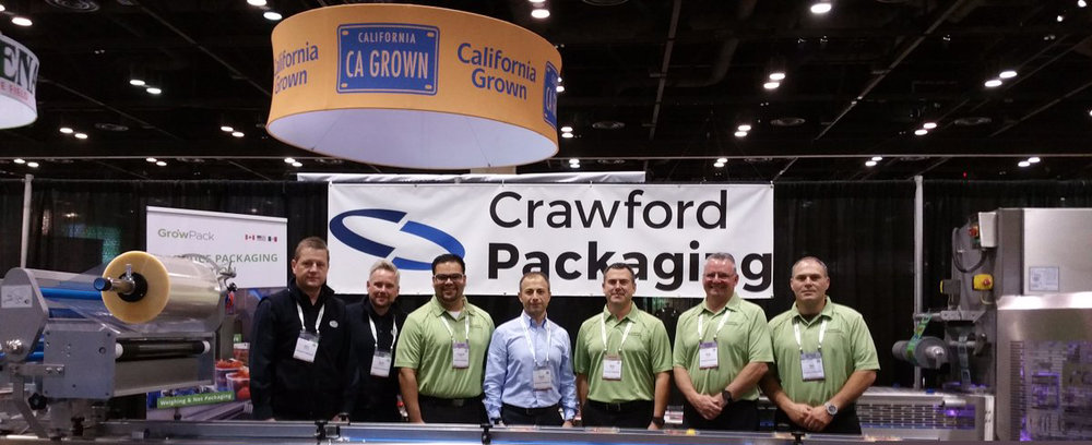 Crawford Packaging Technicians and Packaging specialist at the 2016 Fresh Summit.