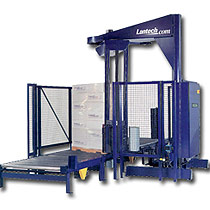 The Lantech S-1200 Automatic Rotary Arm Stretch Wrap Machine.