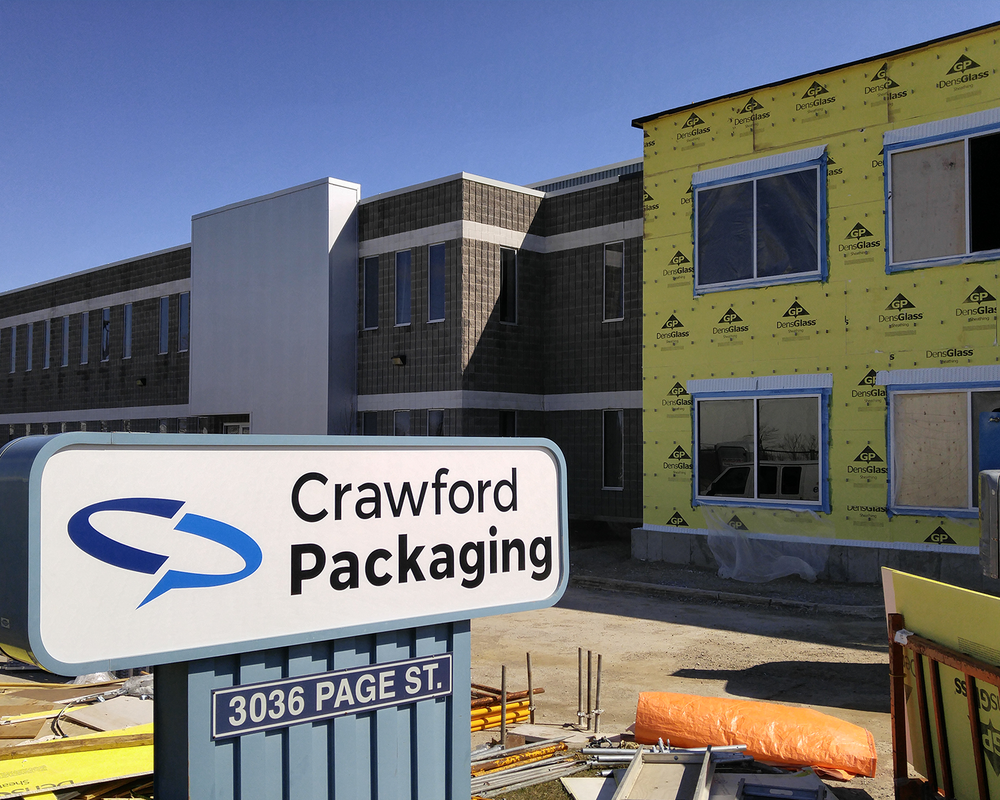 Crawford Packaging's 2017 expansion to their London Offices.