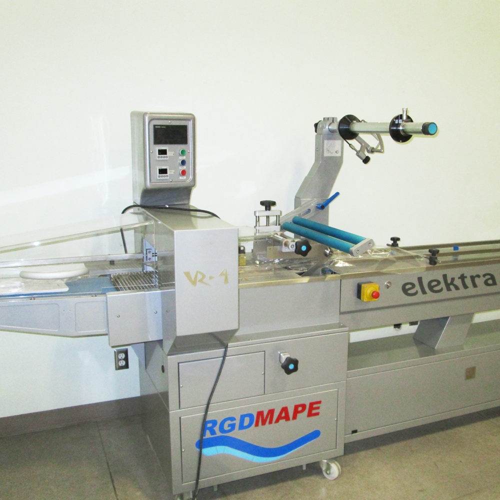 RGD Mape VR-4 Elektra Flow Wrap machine in Brampton.