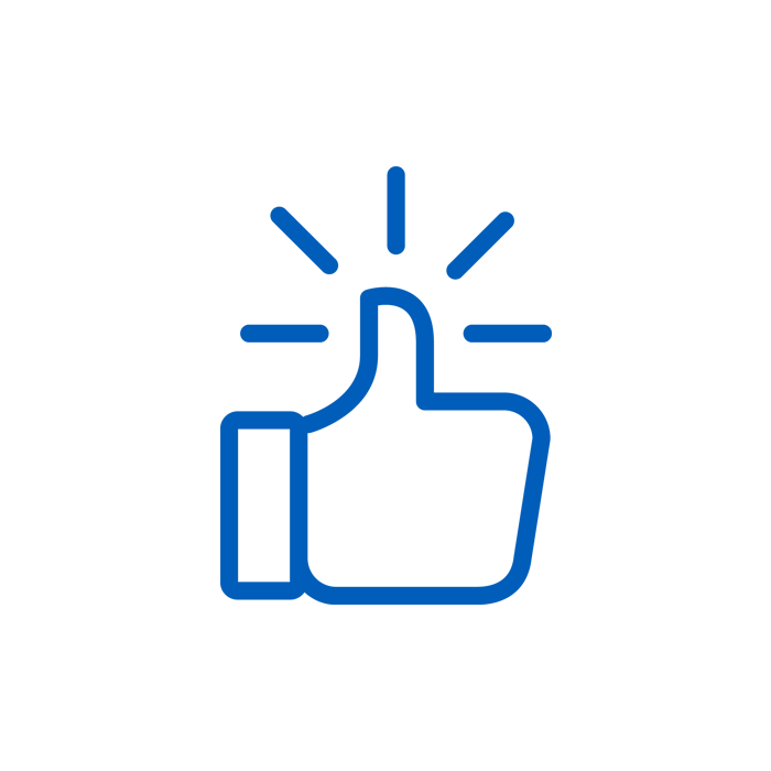 Blue Thumbs up icon