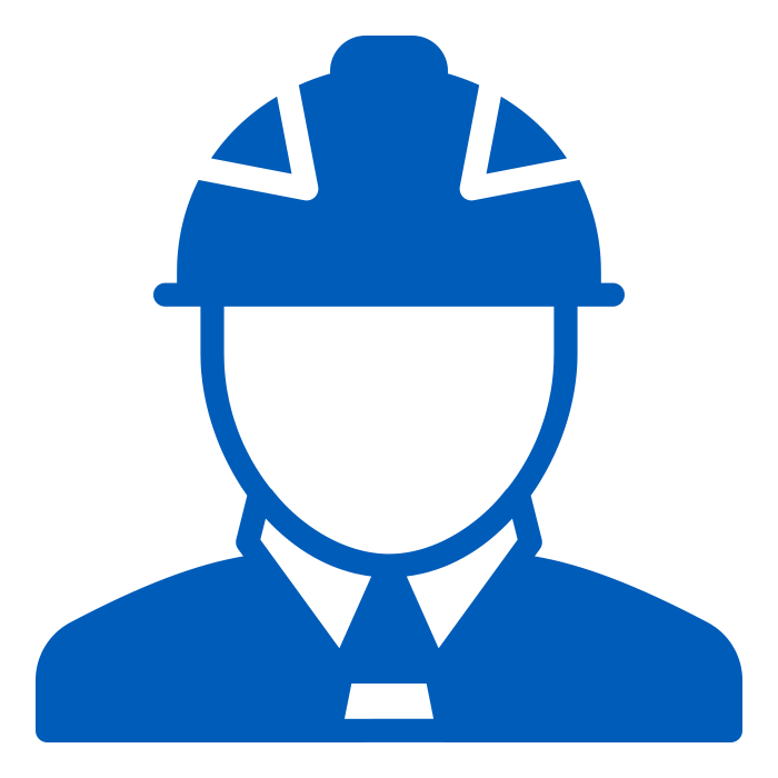 Blue packaging machine operator Icon